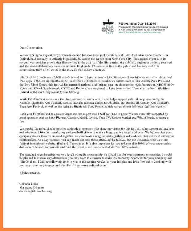 11+ application letter for sponsorship pdf | Bussines Proposal 2017