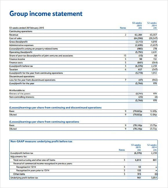 Income Statement Templates - Find Word Templates