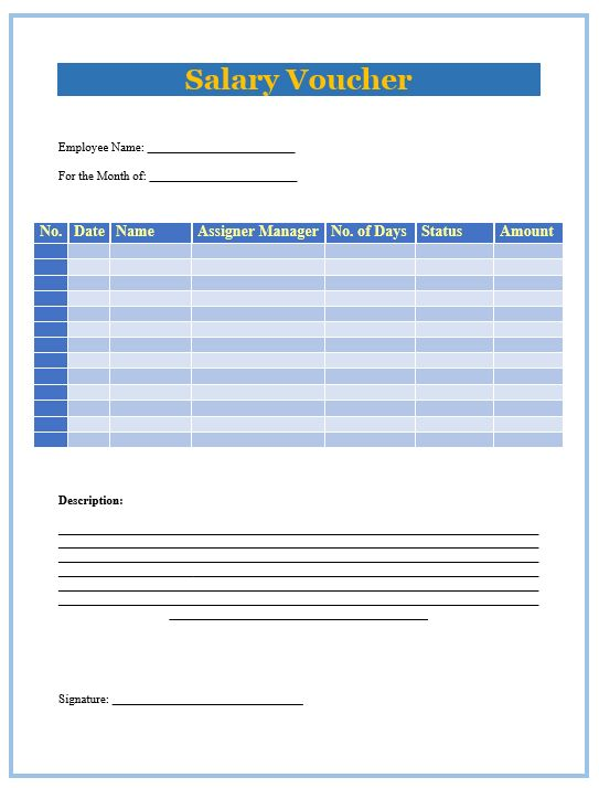 8 Salary Slip Format & Templates – Microsoft Word Templates