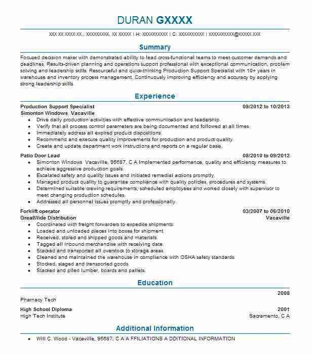 18 Amazing Production Resume Examples | LiveCareer