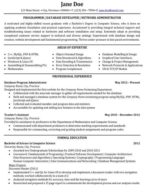 Computer Programmer Resume Example Within 15 Amazing Sample For ...
