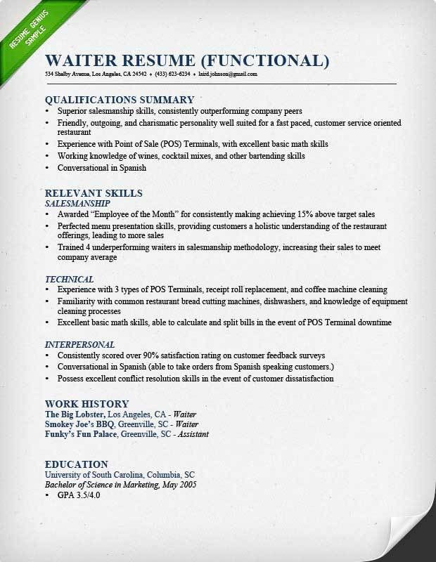 Resume Sample. Chef Resume Chronological Chronological Resume ...