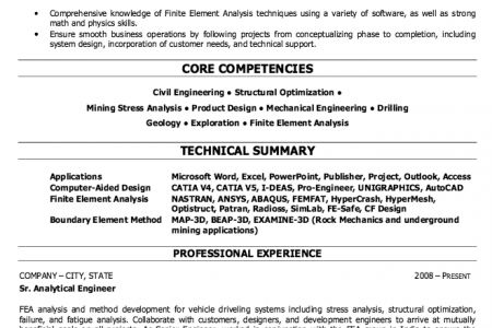 Petroleum Engineer Resume Sample - Reentrycorps