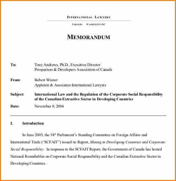 8+ legal memo examples | Authorization memorandum