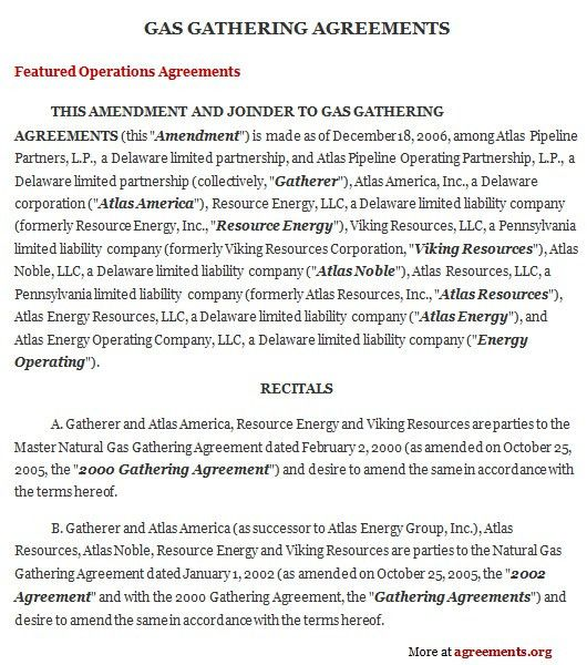 Gas Supply Agreement, Sample Gas Supply Agreement Template ...