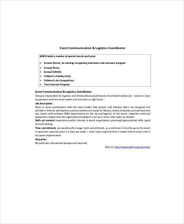 Event Planner Resume. Project Coordinator Resume - Project ...
