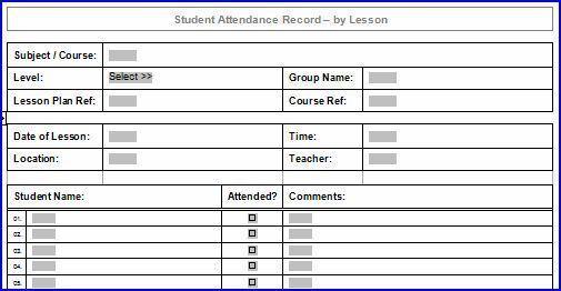 8+ Attendance Sheet Excel Templates | ExcelBuz