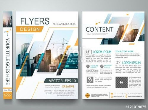 Abstract square in cover book portfolio presentation poster design ...