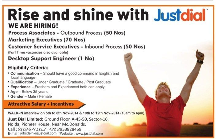 Job - Process Associates - Outbound Process - Gautam Buddha Nagar ...