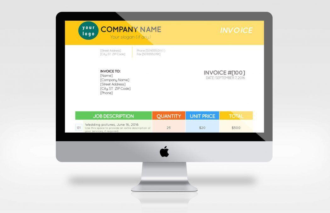 Rental Invoicing Template Mock Invoice Autorepair Pr ~ Ptasso