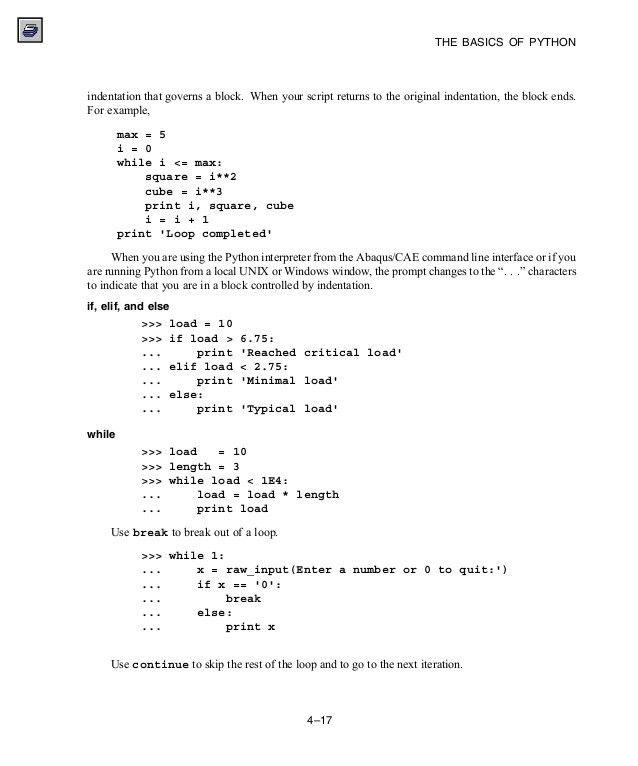 Abaqus 6.11 script manual