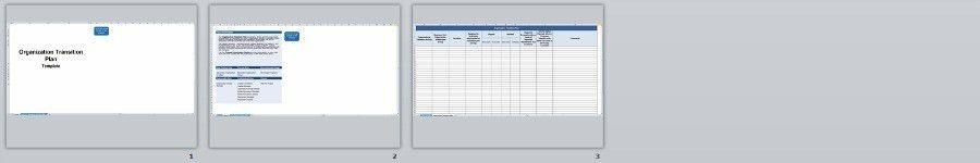 Organization Transition Plan - Change management methodology
