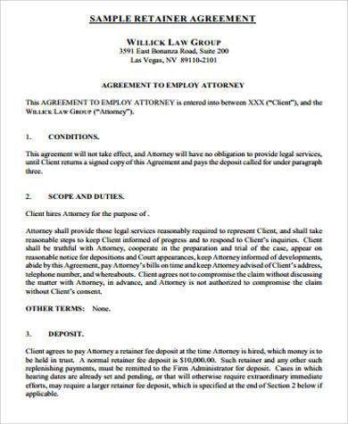 Sample Retainer Agreements. 17 Meilleures Idées À Propos De ...