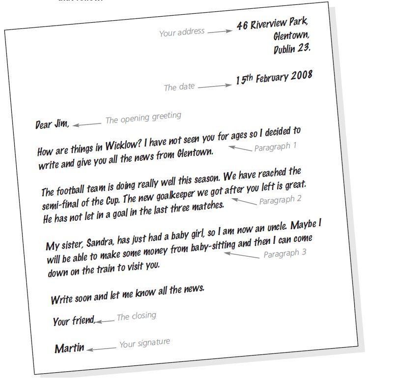 Informal Letter Example | eskindria.com
