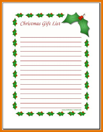5+ christmas list maker | Itinerary Template Sample