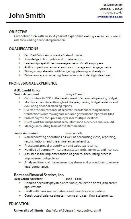 Resume Examples For Accounting Jobs. Create My Resume Best ...