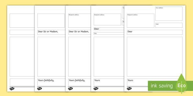 Formal Letter Writing Templates - writing a formal letter