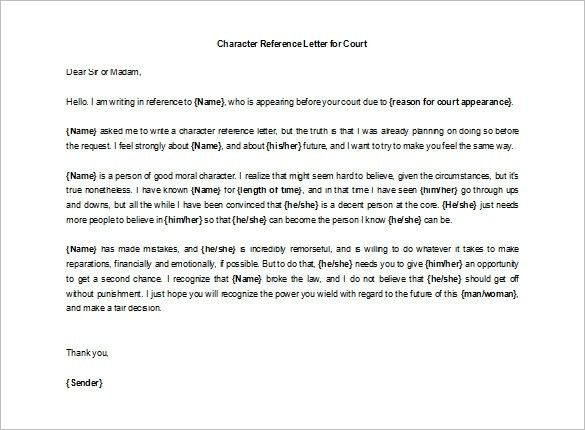 9+ Character Letters Of Recommendation – Free Sample, Example for ...