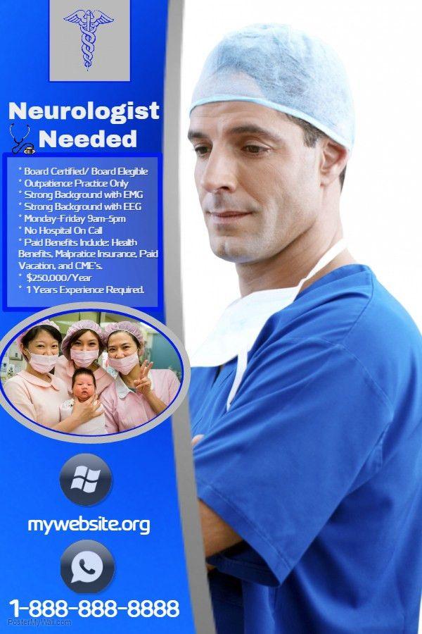 Nurse Hospital Advertisement Poster Template. | Health Poster ...