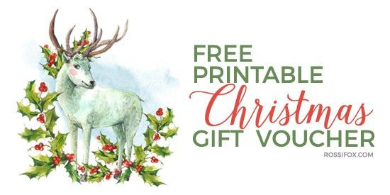 Free Christmas Gift Voucher Printable (Update) | Rossi Fox