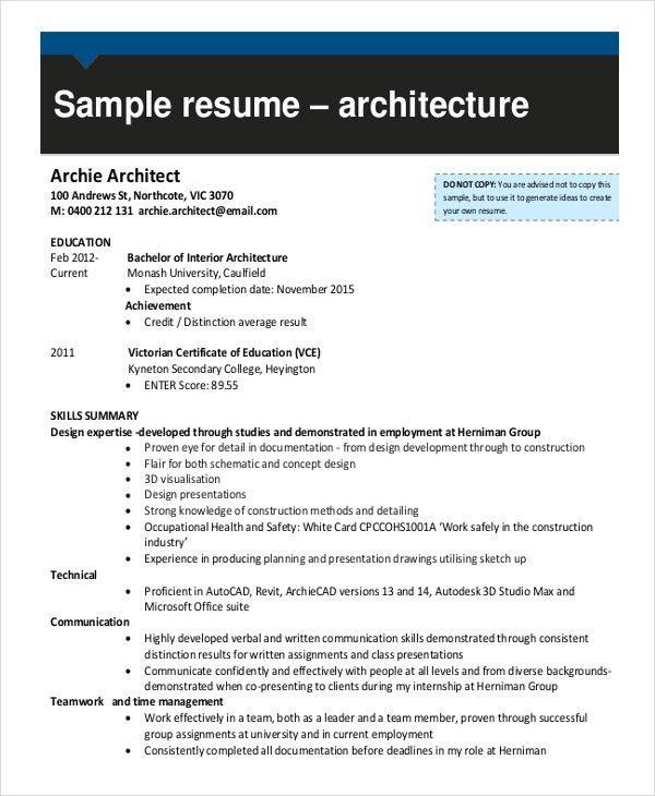7+ Draftsman Resume Templates - Free Word, PDF Document Downloads ...