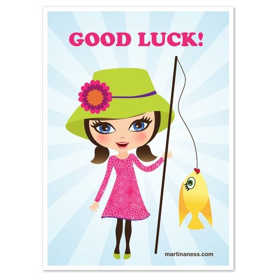 Good luck girl with golden fish, Invitations & Cards on Pingg.com