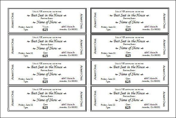 9 Best Images of Free Concert Tickets Sample Templates - Concert ...