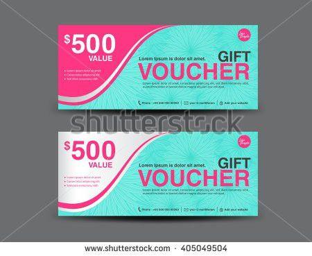 Gift Voucher Template Coupon Designticketbackground Designbusiness ...