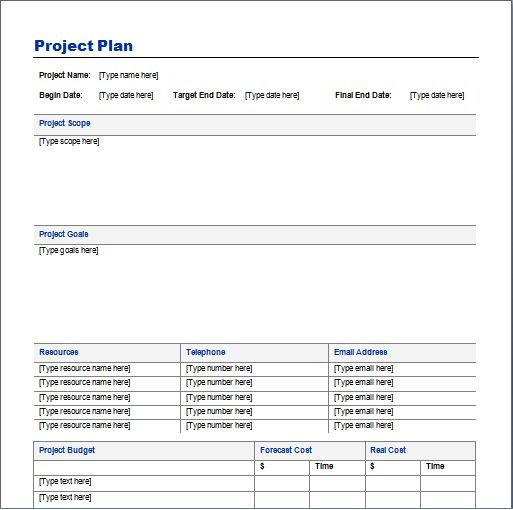 Project Plan Template - vnzgames
