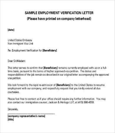 Verification of Employment Letters - 10+ Free Word, PDF Documents ...