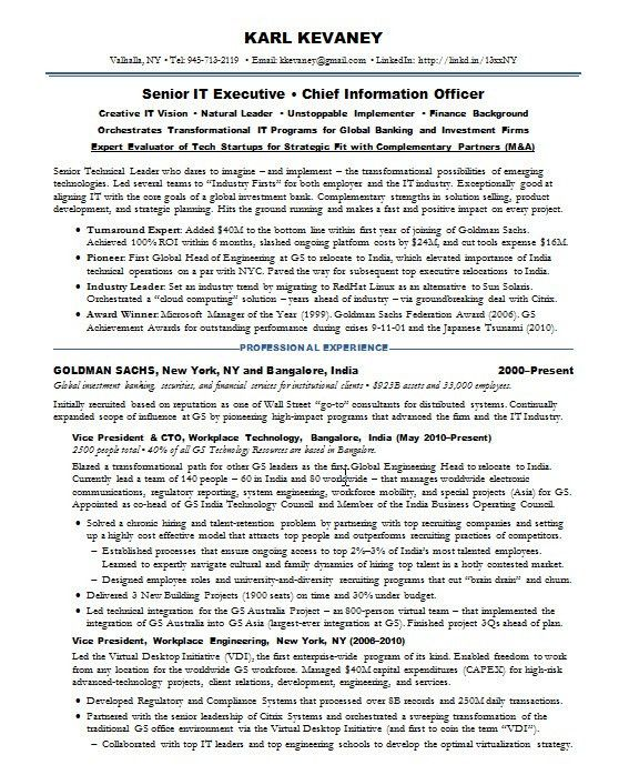 Resume Samples Financial IT Fintech -