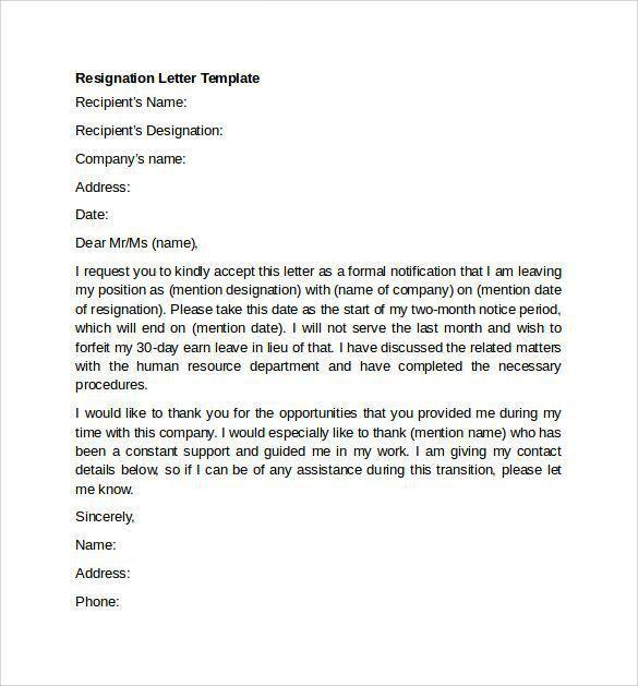 Best 25+ Simple resignation letter format ideas on Pinterest ...