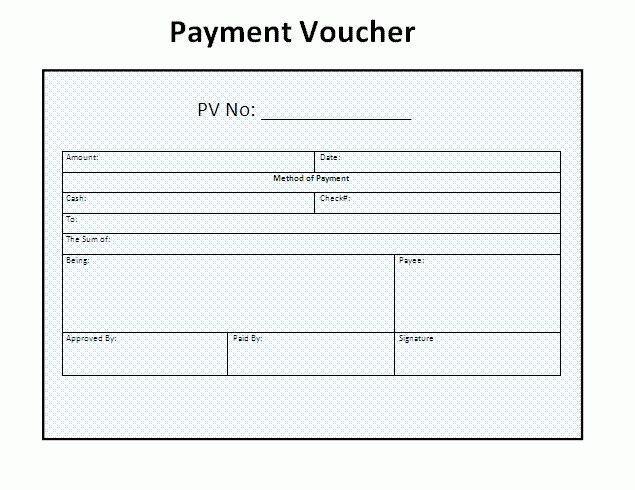 3 + Payment Voucher Templates | Free Word Templates