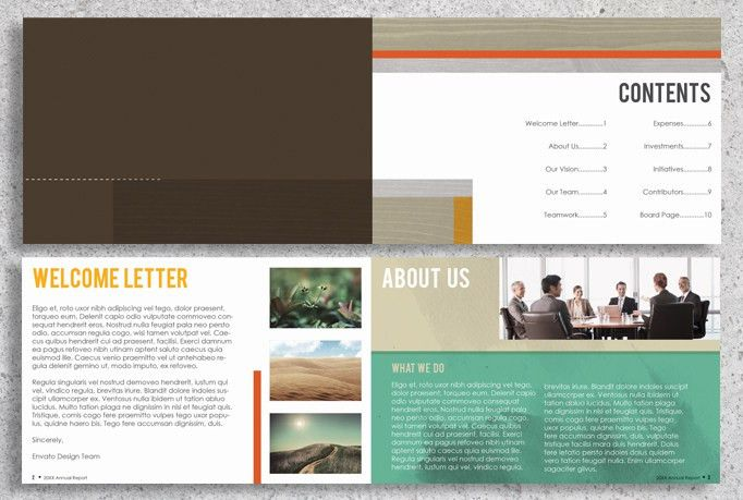 22 Page InDesign Annual Report Template by Lucion Creative ...