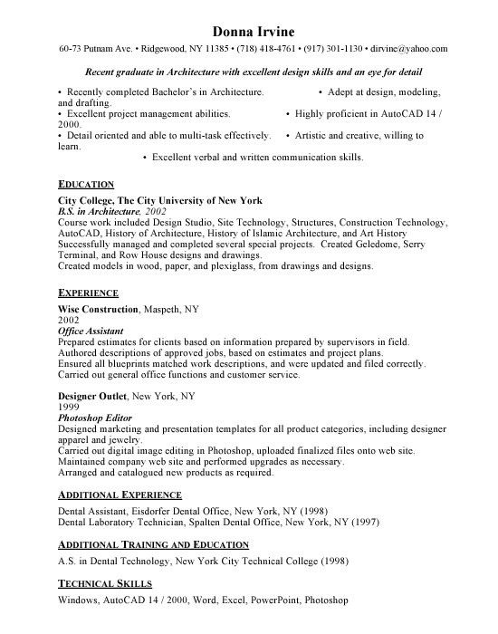 Effective and Simple Architect Resume Templates : Vntask.com