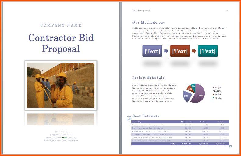 13+ construction bid proposal template | Survey Template Words
