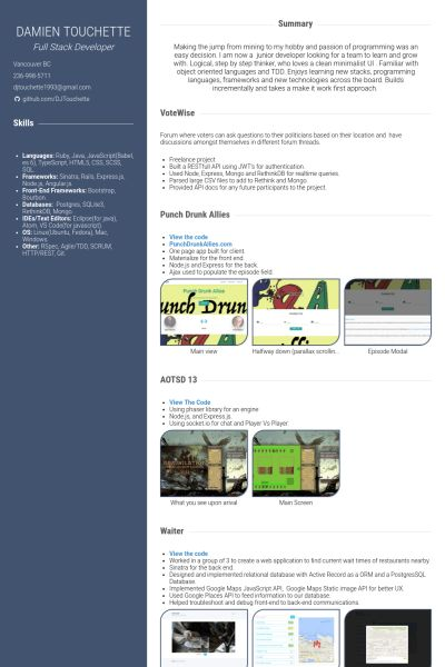 Equipment Operator Resume samples - VisualCV resume samples database