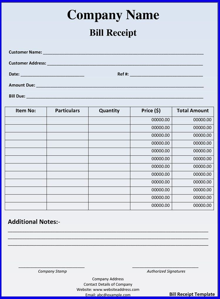 Invoice template Receipt template Invoice instant download ...