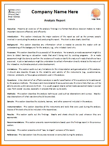 Business Report Template.Analysis Report Template.png - Letter ...