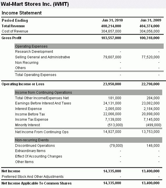 6+ business financial statement template word | cashier resumes