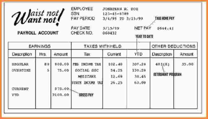 5+ fake paycheck stubs templates | Samples of Paystubs