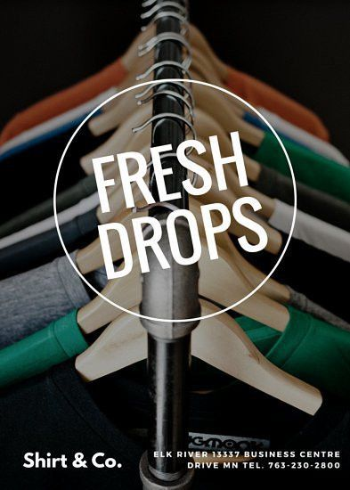 Clothing Store Fresh Drops Retail Flyer - Templates by Canva
