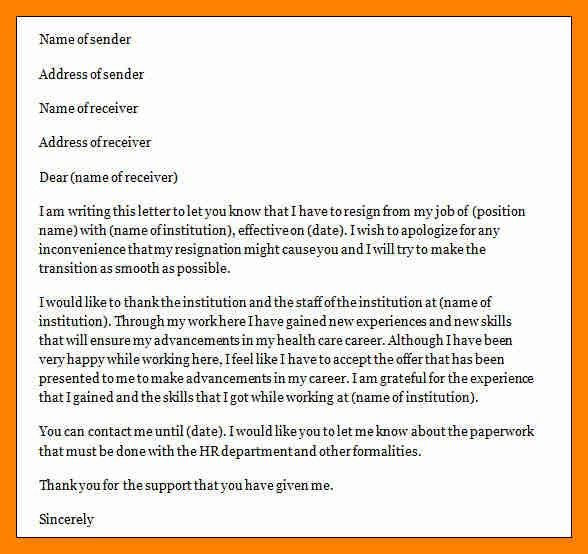 8+ letter of resignation nursing | doctors signature