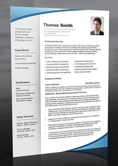 Professional Resume Template Free Can Help You To Start Your ...