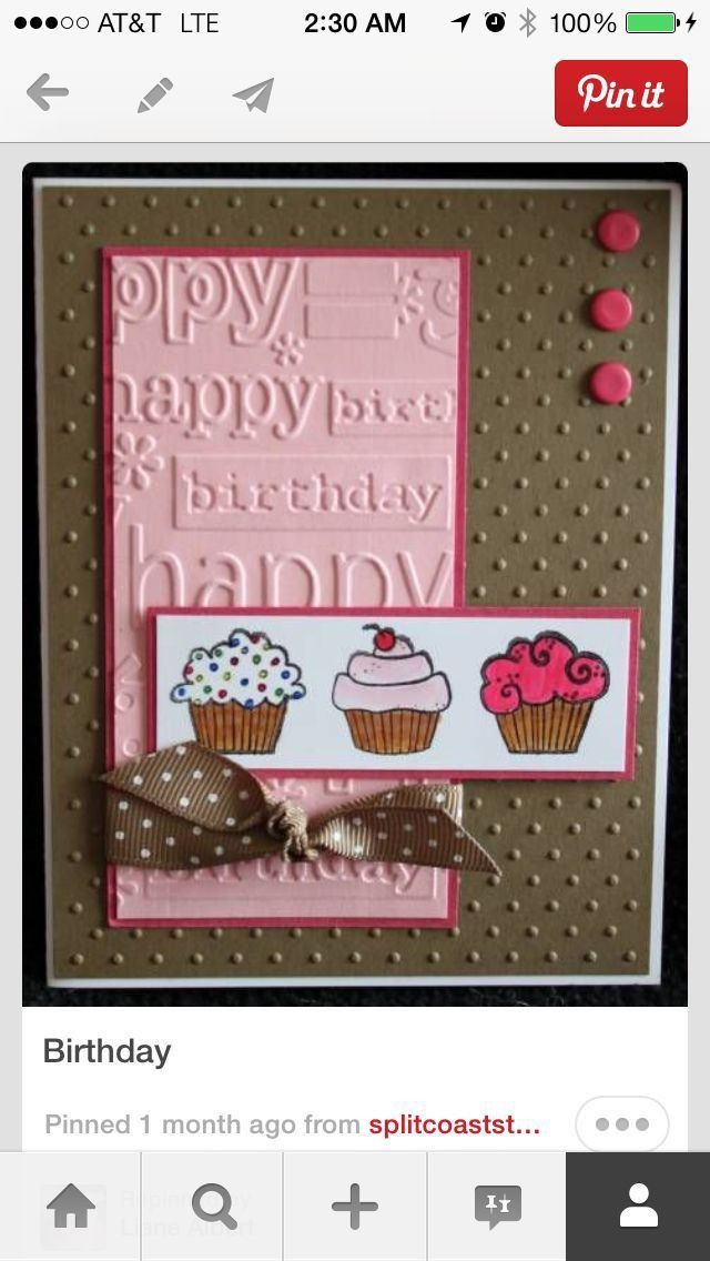 719 best Birthday Cards images on Pinterest | Happy birthday cards ...