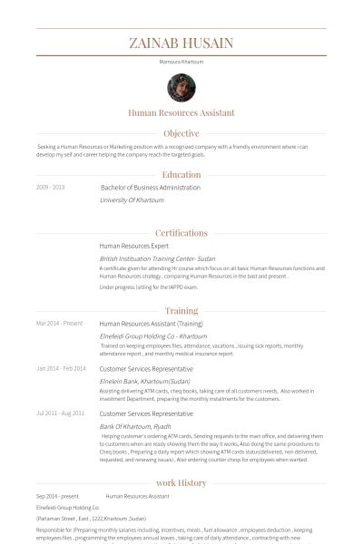 Human Resources Assistant Resume samples - VisualCV resume samples ...