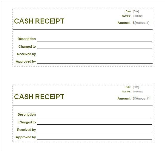 Blank Customer Cash Receipt Form and Template Sample : Helloalive