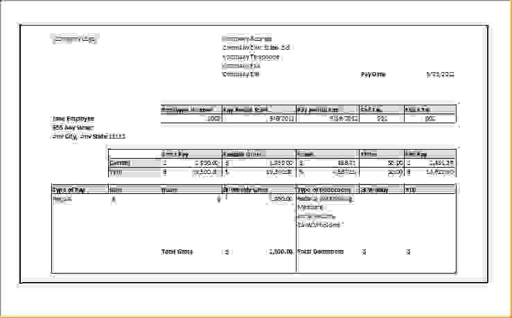 12 Excel Pay Stub TemplateAgenda Template Sample | Agenda Template ...