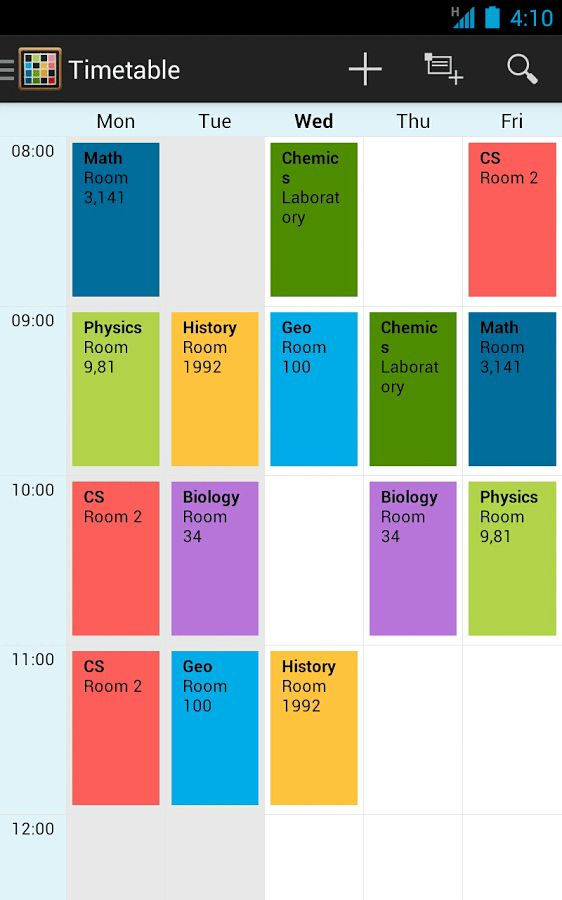 Timetable - Android Apps on Google Play