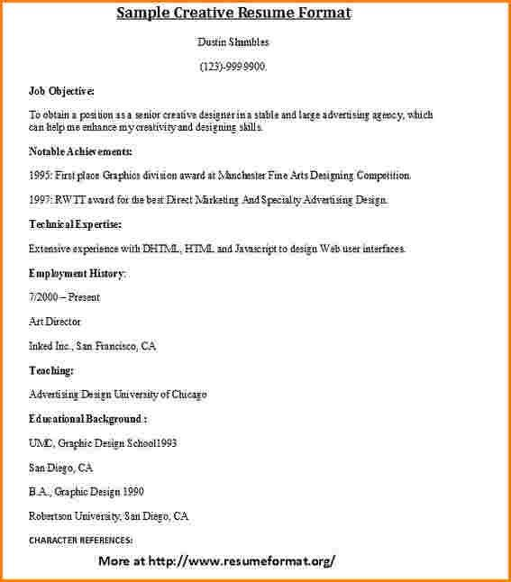 5+ different types of resumes | worker resume